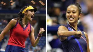 Leylah Fernandez et Emma Raducanu se défient en finale de l'US Open. (AFP)