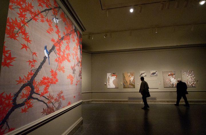 Exposition de Ito Jakuchu, en 2012  (KAREN BLEIER / AFP)