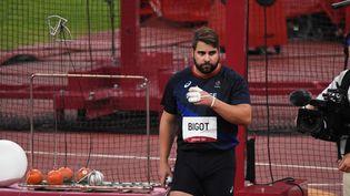 Le Français Quentin Bigot a terminé à la 5e place du concours olympique de lancer de marteau. (YOANN CAMBEFORT / MARTI MEDIA / DPPI via AFP)