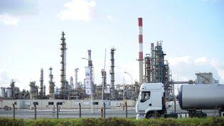 La raffinerie Total de Grandpuits en Seine-et-Marne. (BERTRAND LANGLOIS / AFP)