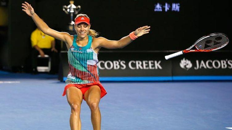 (La joie d'Angelique Kerber après sa victoire © REUTERS / Issei Kato)