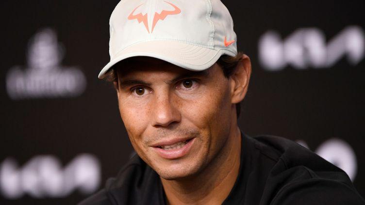 Rafael Nadal en conférence de presse ce dimanche 7 février, à Melbourne. (VINCE CALIGIURI / TENNIS AUSTRALIA)