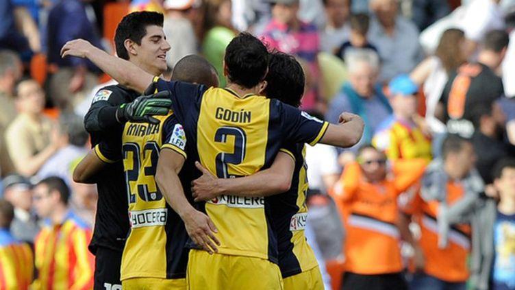 Les joueurs de l'Atletico Madrid filent ver le titre (JOSE JORDAN / AFP)