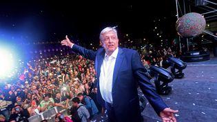 Andres Manuel Lopez Obrador fête son élection comme président du Mexique (PEDRO PARDO / AFP)
