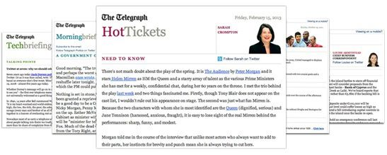 Les newsletters du Telegraph (The Telegraph)