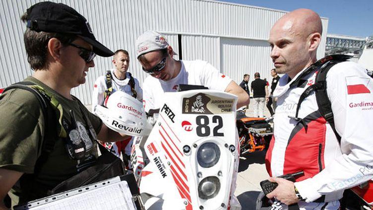 Michal Hernik était 84e au classement général mardi matin avant le départ de la 3e étape