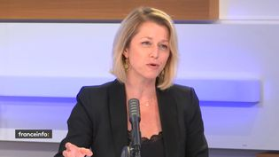 Barbara Pompili, députée LREM de la Somme, invitée du 18H50 franceinfo, jeudi 2 juillet 2020. (RADIO FRANCE / CAPTURE D'ECRAN)