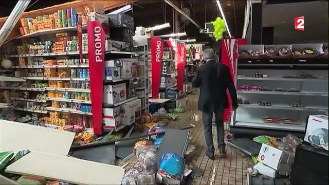 Orage : le toit d'un supermarché d'Angoulême s'effondre