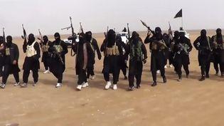 Capture d'écran d'une vidéo de propagande de l'Etat islamique en Irak et au Levant, postée sur internet le 11 juin 2014, montrant des combattants dans la province de Ninive (Irak). (AFP)