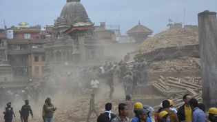 Le Népal a été secoué par un séisme de magnitude 7,8 le 25 avril 2015. Plusieurs milliers de morts sont à déplorer et provoqué d'importantes destructions de bâtiments à Kathmandu. (BIKASH KHADGE / CITIZENSIDE)
