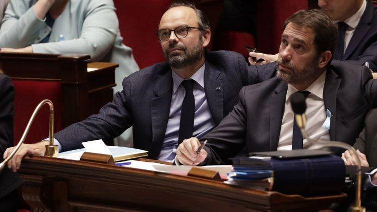 Le Premier ministre, Edouard Philippe, lors d'une session de questions au gouvernement à l'Assemblée nationale le 3 avril 2018. (THOMAS SAMSON / AFP)