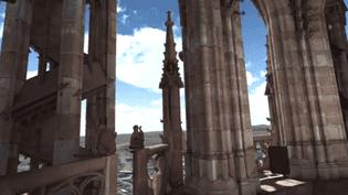 Voyage en immersion au sommet de la flèche de la cathédrale de Strasbourg grâce à la réalité virtuelle  (Culturebox / Capture d'écran)