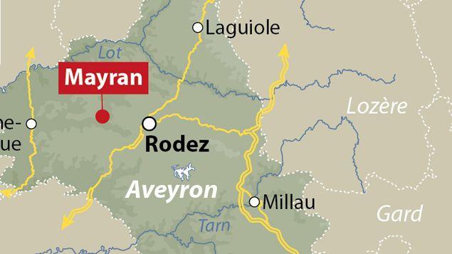 (Le drame s'est déroulé à Mayran, à l'ouest de Rodez © Idé)