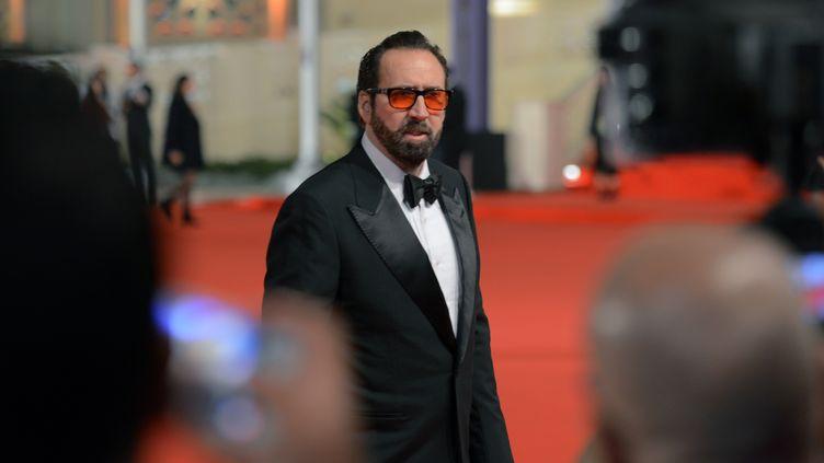 L'acteur américain Nicolas Cage au festival international du film du Caire (Egypte), le 30 novembre 2017. (MOHAMED EL-SHAHED / AFP)