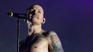 Chester Bennington, le chanteur de Linkin Park, le 3 juillet 2017  (Dafydd Owen / Nurphoto / AFP)