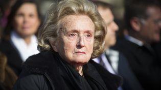 Bernadette Chirac au Plessis-Robinson (Hauts-de-Seine), le 12 mars 2016. (JOEL SAGET / AFP)
