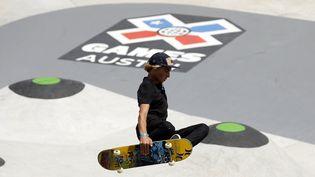 Le skater américain Curren Caples, lors des X-Games, à Austin (Texas), le 7 juin 2014. (EZRA SHAW / GETTY IMAGES NORTH AMERICA / AFP)