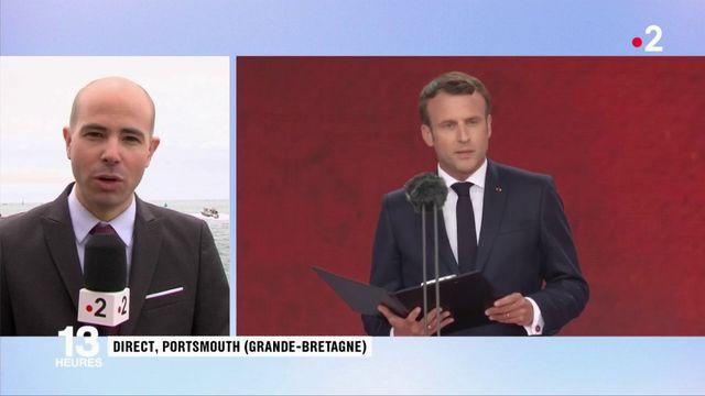 Débarquement : Emmanuel Macron rend hommage à un jeune résistant