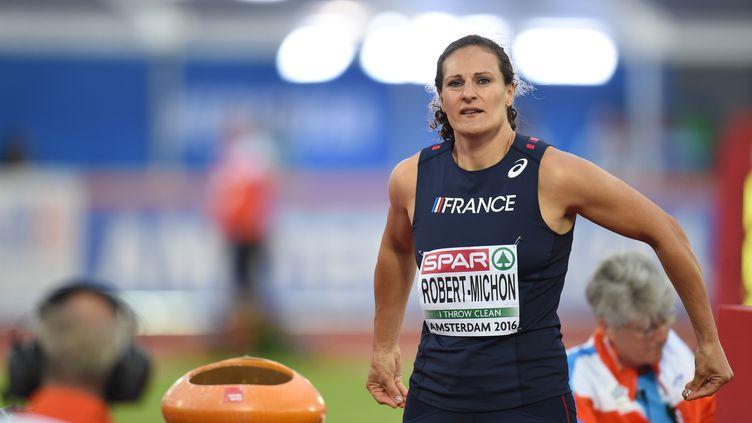 Avec un jet à 62.59m, Mélina Robert-Michon s'est qualifiée pour la finale (STEPHANE KEMPINAIRE / STEPHANE KEMPINAIRE)