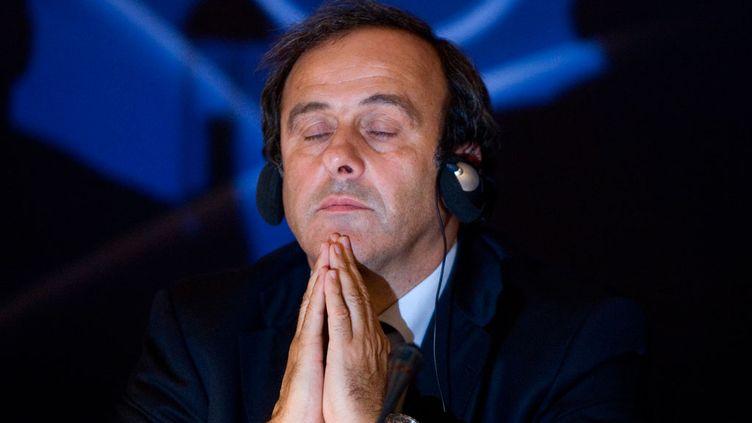 (Michel Platini lors d'un comité exécutif de l'UEFA. © Olivier Pon/Reuters)