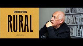 """A gauche, """"Rural"""", de Raymond Depardon (Fondation Cartier) - A droite, Raymond Depardon à Angers le 17 janvier 2020 (A droite © JOSSELIN CLAIR / PHOTOPQR / LE COURRIER DE L'OUEST / MAXPPP)"""