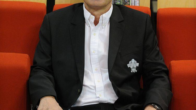 Gilles Moretton lors d'un match de basket entre l'ASVEL et Gravelines-Dunkerque àVilleurbanne(Rhône), le 24 mars 2014. (JEAN PAUL THOMAS / DPPI MEDIA / AFP)