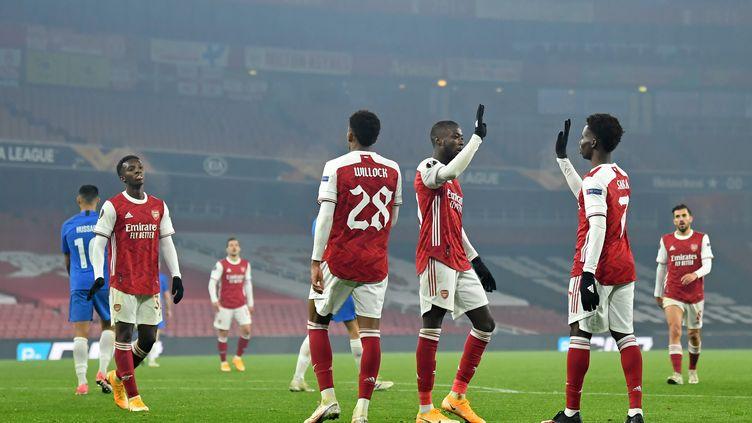 Nicolas Pépé a passé une bonne soirée, comme son ancien club. (GLYN KIRK / AFP)
