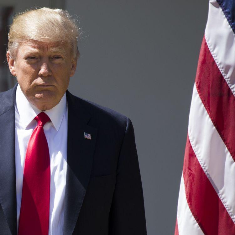 Donald Trump, le 5 avril 2017, à Washington. (SAMUEL CORUM / AFP)