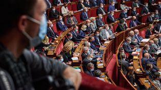 L'Assemblée nationale lors des questions au gouvernement, le 20 octobre 2020. (ANTONIN BURAT / AFP)