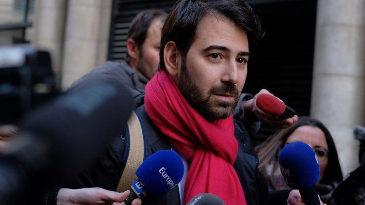 Antonin Levy, l'avocat de François Fillon, en janvier 2017. (STR / AFP)