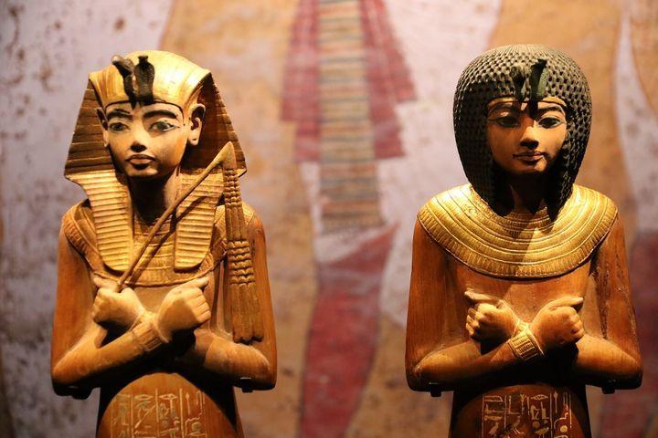 """Pièces de l'exposition """"""""Toutânkhamon, le Trésor du Pharaon"""". (J-M EMPORTES / ONLY FRANCE)"""