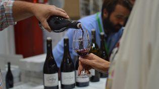 Une foire au vin de Saint-Peray en Ardèche, en août 2018. Photo d'illustration. (VICTOR VASSEUR / RADIO FRANCE)