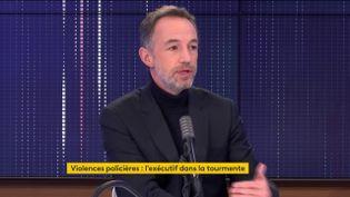 Emmanuel Grégoire,premier adjoint à la maire de Paris, le 28 novembre 2020 sur franceinfo. (FRANCEINFO / RADIOFRANCE)