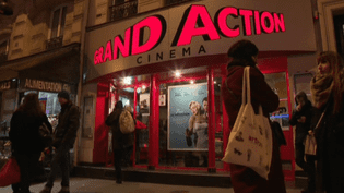 La façade d'un cinéma indépendant parisien  (France 2 Culturebox capture d'écran)