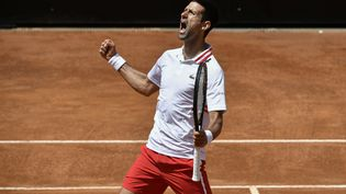 Novak Djokovic à Rome (FILIPPO MONTEFORTE / AFP)