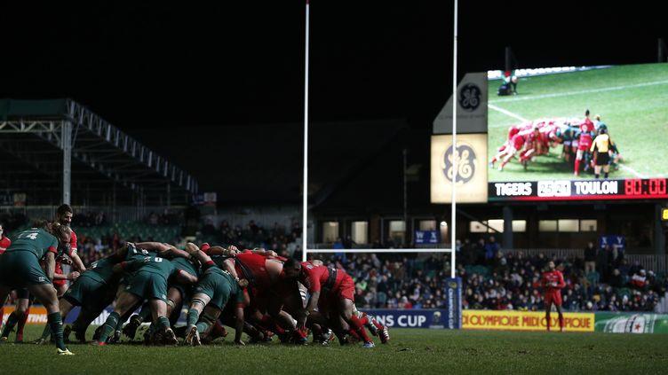 Le RCT a poussé jusqu'au bout à Leicester  (ADRIAN DENNIS / AFP)