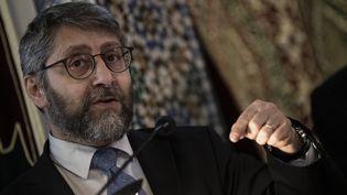 Haïm Korsia, le grand rabbin de France, le 22 mars 2019. (KENZO TRIBOUILLARD / AFP)