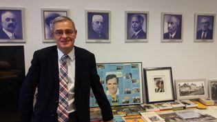 Marc Joulaud, actuel maire de Sablé-sur-Sarthe et ami de 25 ans de François Fillon (ALICE SERRANO / RADIO FRANCE)