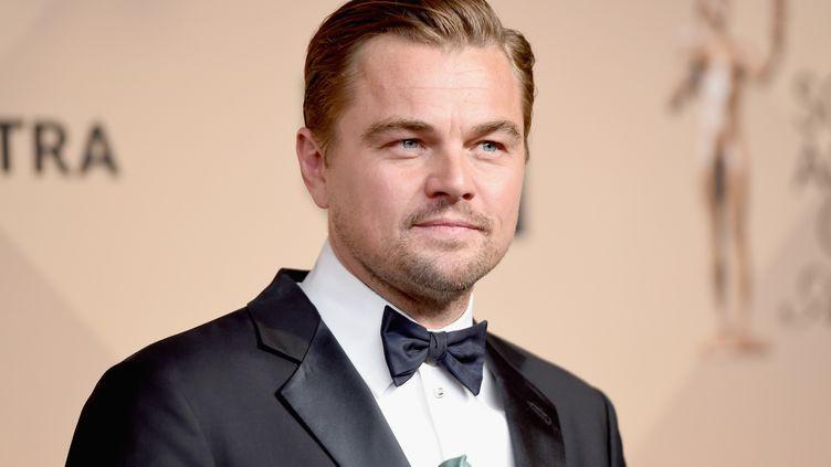 Leonardo DiCaprio, le 30 janvier 2016 à Los Angeles (Californie). (JASON MERRITT / GETTY IMAGES NORTH AMERICA / AFP)