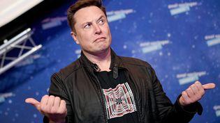 Elon Musk le patron de Space X à Berlin (Allemagne). (BRITTA PEDERSEN / POOL)