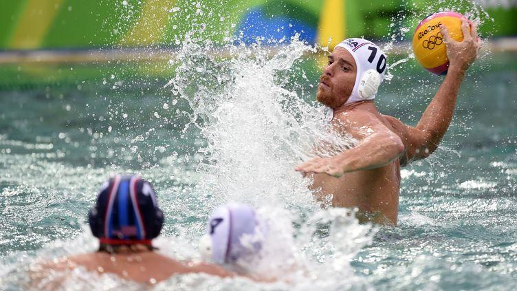 Mathieu Peisson, premier buteur contre les USA à Rio (JEAN MARIE HERVIO / DPPI MEDIA)