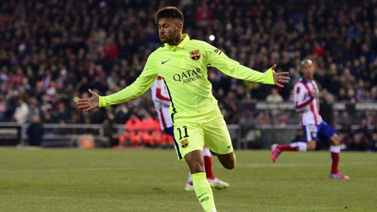 La joie de Neymar (Barcelone) (DANI POZO / AFP)