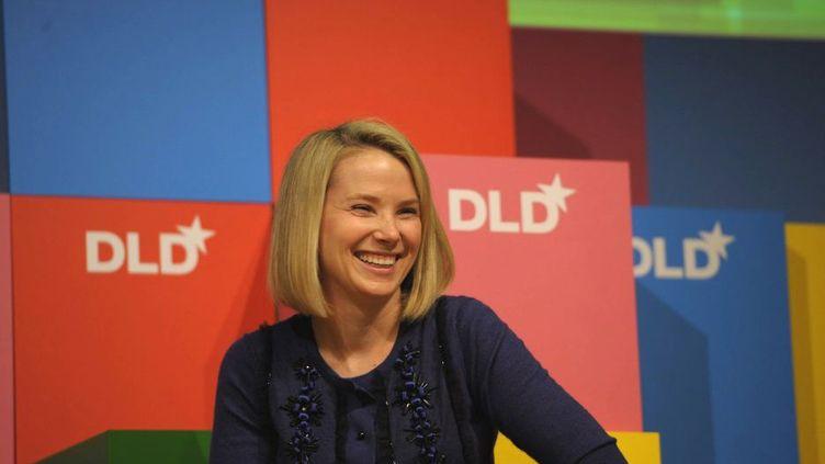 La nouvelle directrice générale de Yahoo!, Marissa Mayer, le 24 janvier 2011 à Munich (Allemagne). (CHRISTOF STACHE / MAXPPP)