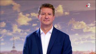 Yannick Jadot, le vainqueur de la primaire écologiste, sur le plateau du 20 heures de France 2, le 28 septembre 2021. (FRANCE 2 / FRANCETV INFO)