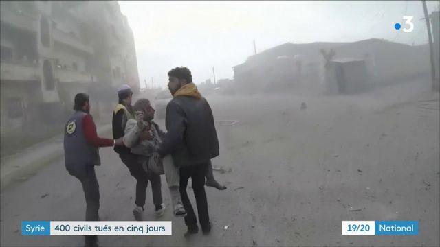 Syrie : 400 civils tués en cinq jours