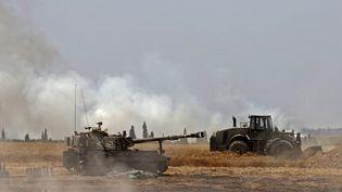 Un char israélien près de la bande de Gaza, le 14 mai 2021. (JACK GUEZ / AFP)