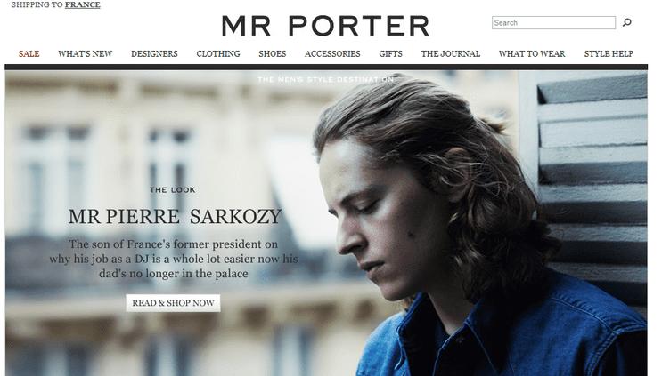 Pierre Sarkozy pose pour la marque Mr Porter, vestiaire masculin en ligne. (FTVI)