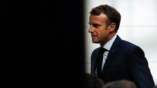 Emmanuel Macron, le 27 août 2019. (YOAN VALAT / AFP)