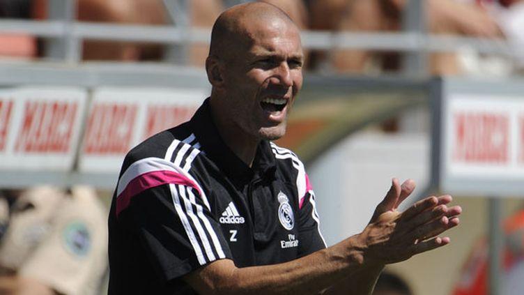 L'entraîneur de la Castilla du Real Madrid, Zinédine Zidane