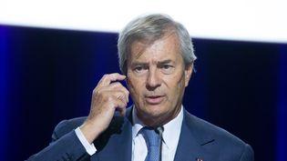 Vincent Bolloré à l'Assemblée générale de Vivendi, à L'Olympia, le 17 avril 2015  (Francois Lafite / Wostok Press / Maxppp)